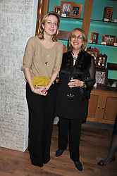 A dinner hosted by Ruinart Champagne in honour of David Linley was held at Linley, 60 Pimlico Road, London SW1 on 8th December 2011.<br /> Left to right, RITA KONIG and NINA CAMPBELL.