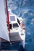 Blast, a Gunboat 48, sailing Race 2 at Antigua Sailing Week.