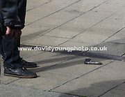 A gun lies in the street outside the Post Office - Immediate aftermath of armed raid on Post Office in George Street, Coydon<br /> <br />  - &copy; David Young - www.davidyoungphoto.co.uk - email: davidyoungphoto@gmail.com