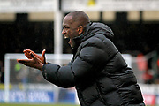 Southend United manager Chris Powell shouts orders during the EFL Sky Bet League 1 match between Peterborough United and Southend United at London Road, Peterborough, England on 3 February 2018. Picture by Nigel Cole.