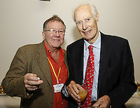 Judd Lander and Sir George Martin CBE. The BRIT School Industry Day, Croydon, London..Thursday, Sept.22, 2011 (John Marshall JME)