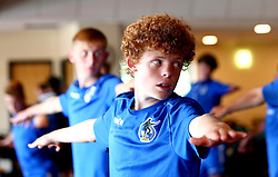 Lewis Clutton of Bristol Rovers Academy takes part in a yoga session at training - Mandatory by-line: Robbie Stephenson/JMP - 13/07/2017 - FOOTBALL - Yate Outdoor Sports Complex - Yate, England - Bristol Rovers Youth Team Portraits
