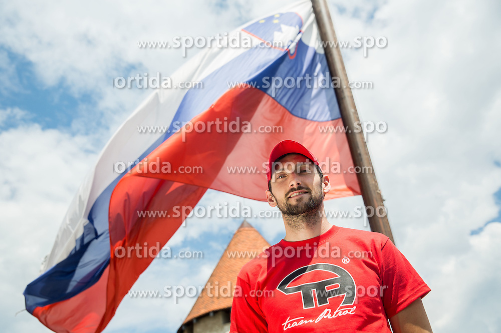 Jakov Fak, biathlon during Sponsorship event for athletes sponsored by Petrol ®,  on June 3, 2015 in Bled's Castle,  Slovenia. Photo by Vid Ponikvar / Sportida