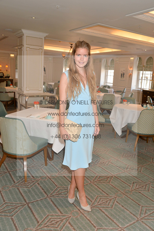 KATIE READMAN at a breakfast hosted by Halcyon Days at Fortnum & Mason, 181 Piccadilly, London on 8th July 2014.