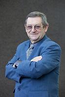 A portrait of Norman Davies at the Edinburgh International Book Festival 2012 in Charlotte Square Gardens<br /> <br /> Pic by Pako Mera