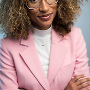 December 14, 2016 - New York, NY : Elaine Welteroth, Editor-in-Chief of Teen Vogue, poses for a portrait in Condé Nast's Teen Vogue offices in One World Trade in Manhattan on Wednesday afternoon. CREDIT: Karsten Moran for The New York Times