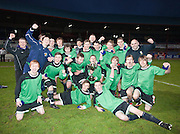 Dundee celebrate cup win - Dundee v Forth Valley, Scottish Schools FA Senior Cup Final at Dens Park..© David Young - 5 Foundry Place - Monifieth - DD5 4BB - Telephone 07765 252616 - email: davidyoungphoto@gmail.com - web: www.davidyoungphoto.co.uk