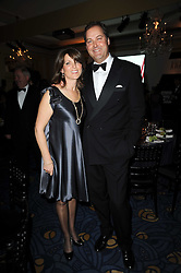 The HON.HARRY & MRS HERBERT at the Cartier Racing Awards 2009 held at Claridge's, Brook Street, London on 17th November 2009.