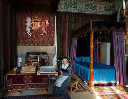 Queen's bedchamber at Stirling Castle, Stirling, Scotland UK