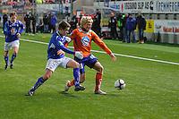 ÅLESUND 20110212. Aalesunds Jonathan Parr (th) under treningskampen i fotball mellom Aalesund og Hødd på Color Line Stadion i Ålesund lørdag ettermiddag.<br /> Foto: Svein Ove Ekornesvåg