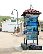The Little Alviso Water Tower by Carla Moss sits near the Cutting Shed at Alviso Adobe Park in Milpitas, California, on March 19, 2013. (Stan Olszewski/SOSKIphoto)