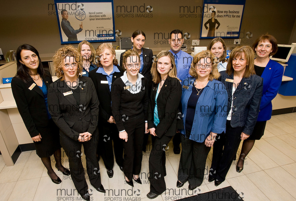 London, Ontario ---29/10/07--- The staff at the Huron and Highbury branch of BMO celebrate the opening of their new branch..GEOFF ROBINS /CNW