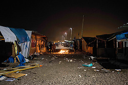 October 24, 2016 - Calais, France - Empty spath in the jungle, early in the morning. Calais 24/10/2016  (Credit Image: © Guillaume Pinon/NurPhoto via ZUMA Press)