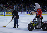 KELOWNA, CANADA - DECEMBER 30:  Bark N' Fly at the Kelowna Rockets game on December 30, 2017 at Prospera Place in Kelowna, British Columbia, Canada.  (Photo By Cindy Rogers/Nyasa Photography,  *** Local Caption ***