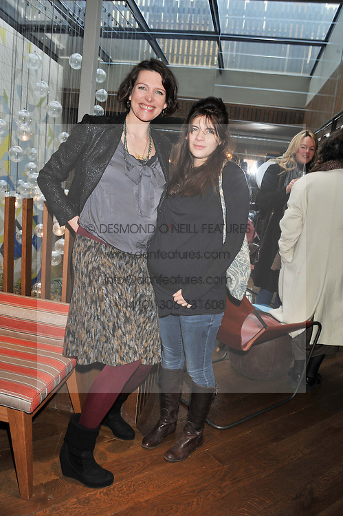Left to right, THOMASINA MIERS and MARTHA FREUD at a ladies lunch hosted by Thomasina Miers at her restaurant Wahaca, 19-23 Charlotte Street, London W1 on 17th January 2013.