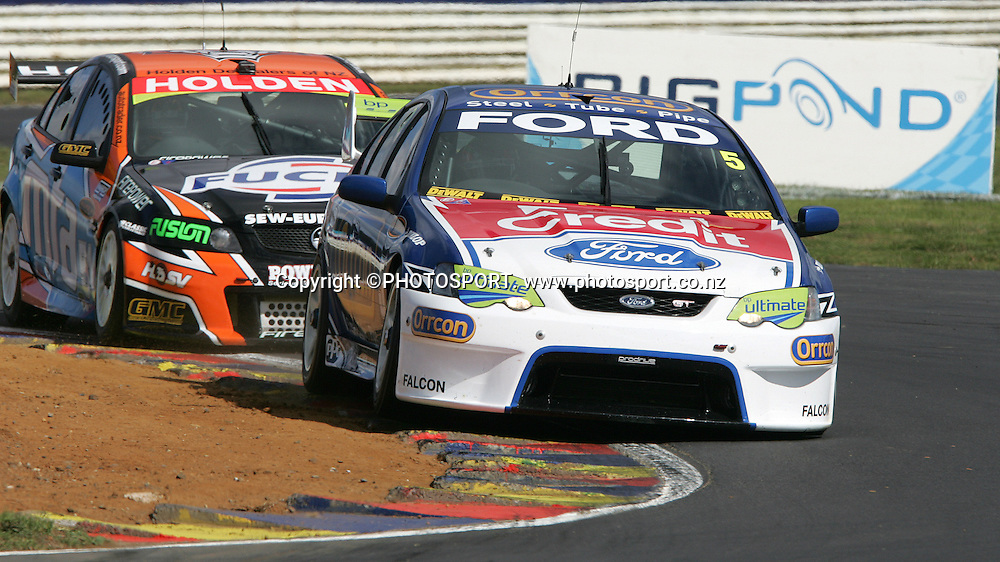 Ford Performance Racing's Mark Winterbottom in action during the Placemaker V8 Supercars in Pukekohe, New Zealand, on Saturday 21 April 2007. Photo: Michael Bradley/PHOTOSPORT