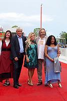 Diane Weyermann, Heino Deckert, Sigrid Dyekjaer, Director Victor Kossakovsky and Aimara Reques at the premiere gala screening of the film Aquarela at the 75th Venice Film Festival, Sala Grande on Saturday 1st September 2018, Venice Lido, Italy.