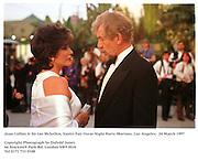 Joan Collins & Sir Ian Mckellen, Vanity Fair Oscar Night Party. Mortons. Los Angeles.  24 March 1997<br />Copyright Photograph by Dafydd Jones<br />66 Stockwell Park Rd. London SW9 0DA<br />Tel 0171 733 0108