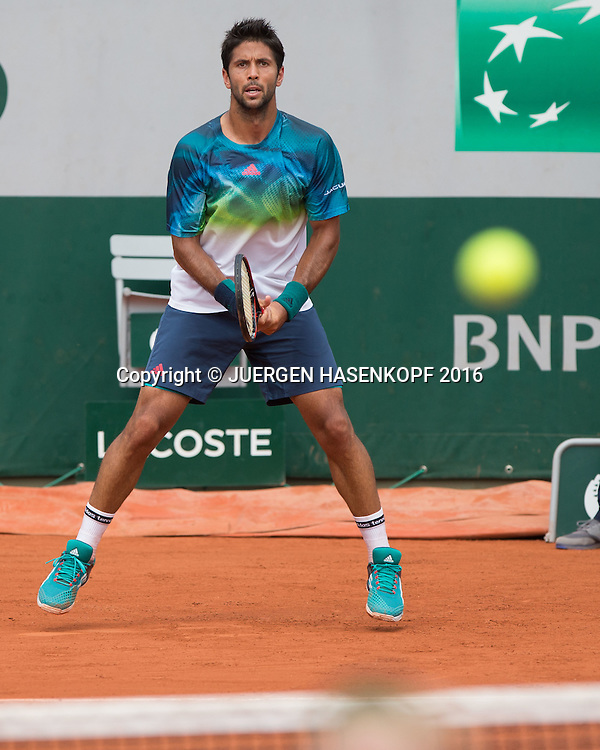 Fernando Verdasco (ESP)<br /> <br /> Tennis - French Open 2016 - Grand Slam ITF / ATP / WTA -  Roland Garros - Paris -  - France  - 27 May 2016.