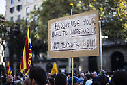 Protests in Barcelona - 21 October 2017
