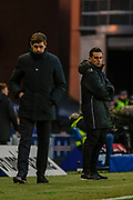 Rangers Manager Steven Gerrard looks on as his team take an early lead during the Ladbrokes Scottish Premiership match between Rangers and Hamilton Academical FC at Ibrox, Glasgow, Scotland on 16 December 2018.