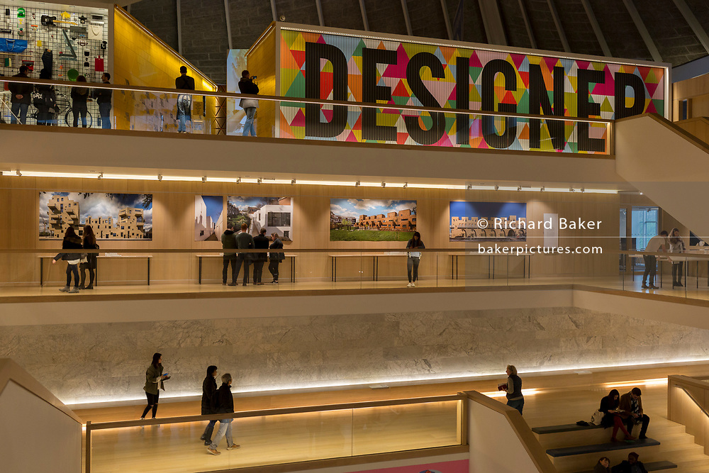 The interior of Kensington's Design Museum, on 6th January 2019, in London UK