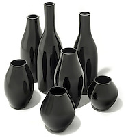 Collection of Clio Dark Glass Vases