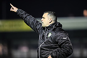 Forest Green Rovers U18 manager Chris Barker during the The FA Youth Cup match between Bristol Rovers and Forest Green Rovers at the Memorial Stadium, Bristol, England on 2 November 2017. Photo by Shane Healey.