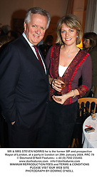 MR & MRS STEVEN NORRIS he is the former MP and prospective Mayor of London, at a party in London on 29th January 2004.PRC 79
