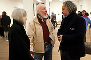 RITA DONAGH; ; RICHARD HAMILTON;GABRIEL OROZCO, Gabriel Orozco reception, Tate Modern, London. 18 January 2010. .-DO NOT ARCHIVE-© Copyright Photograph by Dafydd Jones. 248 Clapham Rd. London SW9 0PZ. Tel 0207 820 0771. www.dafjones.com.
