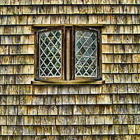 Single window on one side of Nantucket's supposed oldest house. Nantucket, Massachusetts. HDR