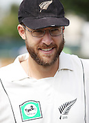 NZ Captain Daniell Vettori. New Zealand Black Caps v Pakistan, Test Match Cricket. Day 1 at Seddon Park, Hamilton, New Zealand. Friday 7 December 2010. Photo: Andrew Cornaga/photosport.co.nz