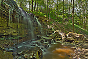 Sixteen Mile Creek trickles over Louth Falls in the Niagara Peninsula<br /> Jordan<br /> Ontario<br /> Canada