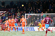 Shrewsbury Town goalkeeper Dean Henderson (1) watches the ball during the EFL Sky Bet League 1 match between Scunthorpe United and Shrewsbury Town at Glanford Park, Scunthorpe, England on 17 March 2018. Picture by Mick Atkins.
