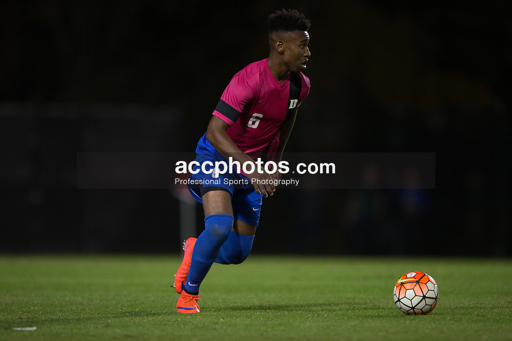 2015 October 30: Tyler Hilliard #6 of the Duke Blue Devils during a 2-1 win over the Virginia Tech Hokies at Koskinen Stadium in Durham, NC.