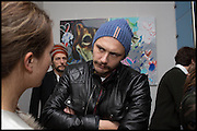 HARUMI KLOSSOWSKI; JAMES FRANCO, James Franco exhibition 'Fat Squirrel' at Siegfried Contemporary, Basset Rd, London W10. 23 November 2014.