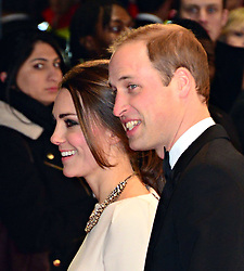 Duke and Duchess of Cambridge attend The Royal Film Performance of Mandela Loing Walk To Freedom Film Premiere at Odeon Leicester Square, London, United Kingdom. Thursday, 5th December 2013. Picture by Nils Jorgensen / i-Images