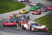 May 4-6 2018: IMSA Weathertech Mid Ohio. Start of the mid ohio sportscar grand prix. 6 Acura Team Penske, Acura DPi, Juan Pablo Montoya, Dane Cameron