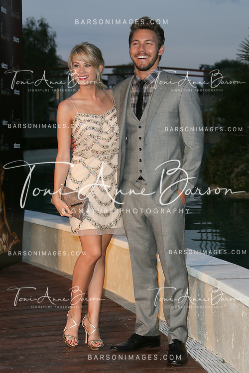 MONTE-CARLO, MONACO - JUNE 09:  Kim Matula and Scott Clifton attend a Party at the Monte Carlo Bay Hotel on June 9, 2014 in Monte-Carlo, Monaco.  (Photo by Tony Barson/FilmMagic)