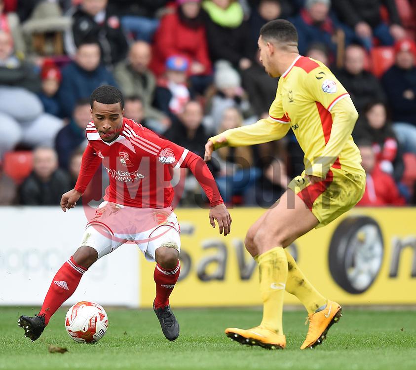Swindon Town's Nathan Byrne controls the ball - Photo mandatory by-line: Paul Knight/JMP - Mobile: 07966 386802 - 04/04/2015 - SPORT - Football - Swindon - The County Ground - Swindon Town v Milton Keynes Dons - Sky Bet League One