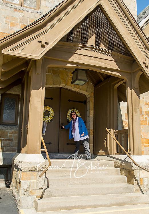 Pastor Paula Gile of the Congregational Church in Laconia.  (Karen Bobotas/for the Laconia Daily Sun)