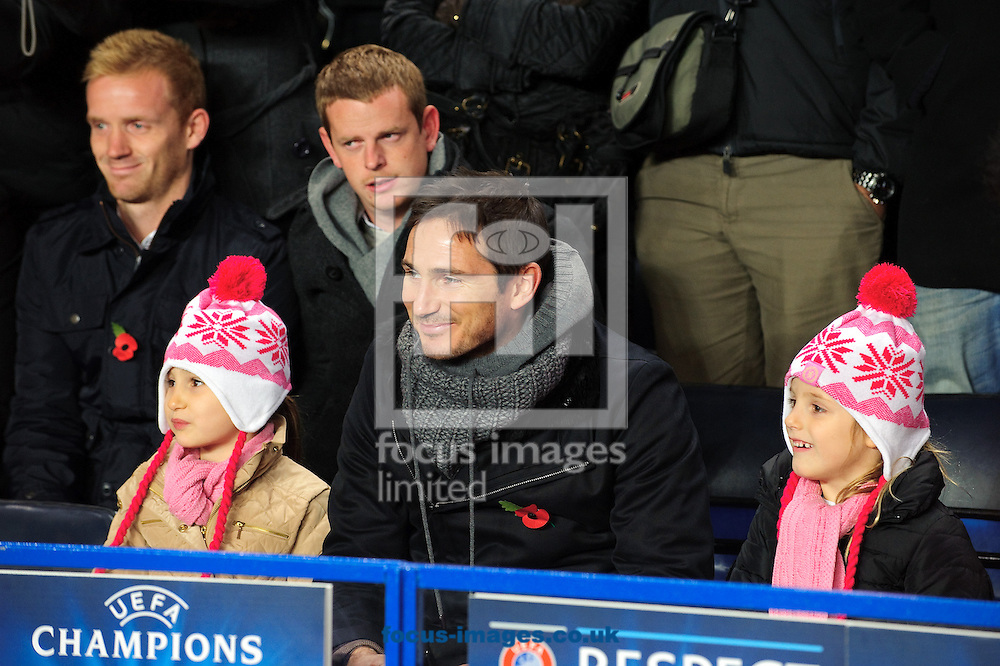 Picture by Gerald O'Rourke/Focus Images Ltd +44 7500 165179.07/11/2012.Frank Lampard of Chelsea and his daughters during the UEFA Champions League match at Stamford Bridge, London.