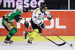 16.12.2012, Hala Tivoli, Ljubljana, SLO, EBEL, HDD Telemach Olimpija Ljubljana vs Dornbirner Eishockey Club, 31. Runde, in picture Andrej Hebar (HDD Telemach Olimpija, #84) and Luciano Aquino (Dornbirner Eishockey Club, #29) during the Erste Bank Icehockey League 31st Round match between HDD Telemach Olimpija Ljubljana and Dornbirner Eishockey Club at the Hala Tivoli, Ljubljana, Slovenia on 2012/12/16. (Photo By Matic Klansek Velej / Sportida)