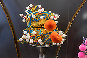 Traditional Chinese Opera headdress Closeup. Photographed in Chengdu, Sichuan, China
