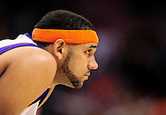 Mar. 10, 2011; Phoenix, AZ, USA; Phoenix Suns forward Jared Dudley reacts on the court against the Denver Nuggets at the US Airways Center. The Nuggets defeated the Suns 116-97. Mandatory Credit: Jennifer Stewart-US PRESSWIRE.
