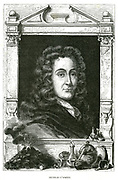 Nicholas Lemery (1645-1715) French physician and chemist. From Louis Figuier 'Vie des Savants Illustres', Paris, 1870. Engraving