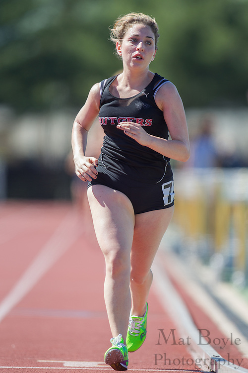 Rutgers Camden's Gabriella Schwalbe competes in the women's 10000 meter at the NJAC Track and Field Championships at Richard Wacker Stadium on the campus of  Rowan University  in Glassboro, NJ on Saturday May 4, 2013. (photo / Mat Boyle)