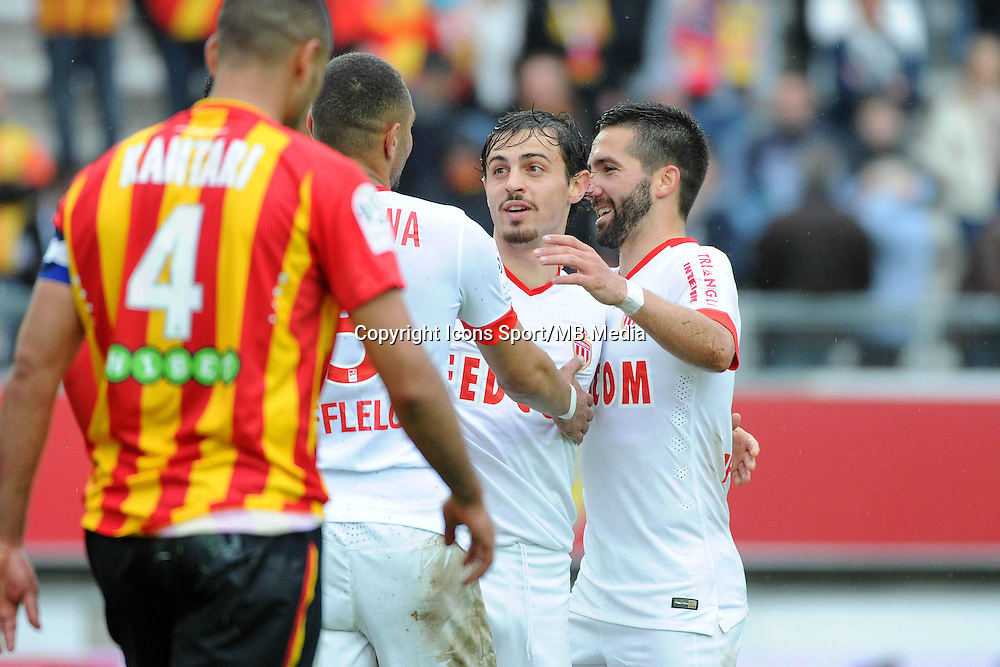 Joie Bernardo SILVA / Joao MOUTINHO - 26.04.2015 - Lens / Monaco - 34eme journee de Ligue 1<br />Photo : Nolwenn Le Gouic / Icon Sport
