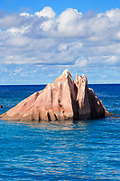 granite rock of saint pierre island in seychelles islands indian ocean