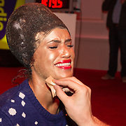 NLD/Hilversum/20151207- Sky Radio's Christmas Tree for Charity, Sharon Doorson geschminked